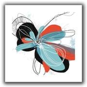 "ArtWall ""Tiffany Blue Pop Petals"" Unwrapped Canvas Art By Jan Weiss, 18"" x 18"""