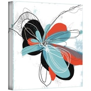 ArtWall Tiffany Blue Pop Petals Gallery Wrapped Canvas Art By Jan Weiss, 36 x 36