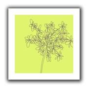 "ArtWall ""Citron Happy Flower I"" Unwrapped Canvas Art By Jan Weiss, 18"" x 18"""