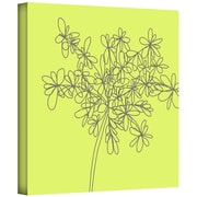"""ArtWall """"Citron Happy Flower I"""" Gallery Wrapped Canvas Art By Jan Weiss, 36"""" x 36"""""""