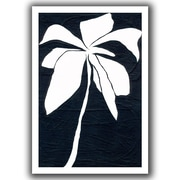 "ArtWall ""White Flower"" Unwrapped Flat Canvas Art By Jan Weiss, 24"" x 36"""