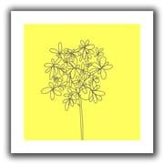 "ArtWall ""Yellow Happy Flower"" Flat Unwrapped Canvas Art By Jan Weiss, 14"" x 14"""