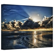 "ArtWall ""Atlantic Sunrise"" Gallery Wrapped Canvas Arts By Dan Wilson"