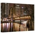 ArtWall in.Chicago-Michigan Avenue Bridgein. Gallery Wrapped Canvas Arts By Dan Wilson