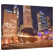 "ArtWall ""Chicago-The Bean I"" Flat Gallery Wrapped Canvas Arts By Dan Wilson"
