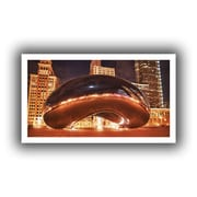 ArtWall Chicago-The Bean II Flat Unwrapped Canvas Art By Dan Wilson, 26 x 48