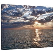 "ArtWall ""Lake Erie Sunset I"" Gallery Wrapped Canvas Arts By Dan Wilson"