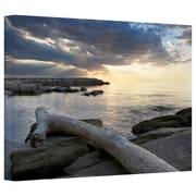 "ArtWall ""Lake Erie Sunset II"" Gallery Wrapped Canvas Arts By Dan Wilson"