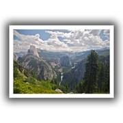 ArtWall Yosemite-Half Dome, Vernal Falls... Unwrapped Canvas Art By Dan Wilson, 32 x 48