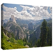 "ArtWall ""Yosemite-Half Dome, Vernal Falls..."" Wrapped Canvas Arts By Dan Wilson"