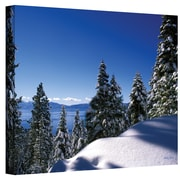 ArtWall Lake Tahoe in Winter Gallery Wrapped Canvas Art By Kathy Yates, 12 x 18