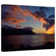 ArtWall Last Light Over Bali Hai Gallery Wrapped Canvas Art By Kathy Yates, 24 x 36