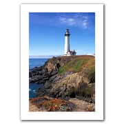 ArtWall Pigeon Point Lighthouse 2 Unwrapped Canvas Art By Kathy Yates, 18 x 12