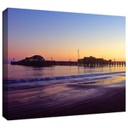 "ArtWall ""Santa Barbara Pier at Sunset"" Gallery Wrapped Canvas Arts By Kathy Yates"