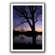 ArtWall Texas Sunset on The Lake Unwrapped Canvas Art By Kathy Yates, 16 x 24