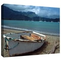 ArtWall in.Waiting to Row in Hanalei Bayin. Gallery Wrapped Canvas Arts By Kathy Yates