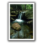 ArtWall Waterfall in The Woods Unwrapped Canvas Art By Kathy Yates, 24 x 36