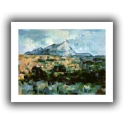 ArtWall Montagne Sainte-Victoire Unwrapped Canvas Art By Paul Cezanne, 14 x 18