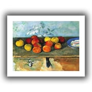 ArtWall Still Life of Apples and Biscuits Unwrapped Canvas Art By Paul Cezanne, 18 x 24