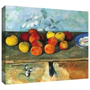 ArtWall Still Life of Apples and Biscuits Gallery Wrapped Canvas Art By Paul Cezanne, 24 x 32