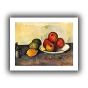 ArtWall Still Life with Apples Unwrapped Canvas Art By Paul Cezanne, 36 x 48