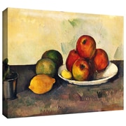 ArtWall Still Life with Apples Gallery Wrapped Canvas Art By Paul Cezanne, 36 x 48