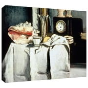 ArtWall The Black Marble Clock Gallery Wrapped Canvas Art By Paul Cezanne, 24 x 32