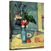 """ArtWall """"The Blue Vase"""" Gallery Wrapped Canvas Art By Paul Cezanne, 24"""" x 18"""""""