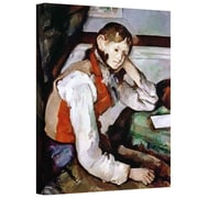ArtWall The Boy in The Red Waistcoat Gallery Wrapped Canvas Art By Paul Cezanne, 32 x 24