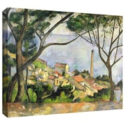 """ArtWall """"The Sea at l'Estaque"""" Gallery Wrapped Canvas Art By Paul Cezanne, 14"""" x 18"""""""