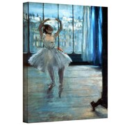 ArtWall Dancer in Front of a Window Dancer Gallery Wrapped Canvas Art By Edgar Degas, 32 x 24