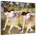 ArtWall in.Dancers Bending Downin. Gallery Wrapped Canvas Arts By Edgar Degas