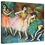 ArtWall Four Dancers Gallery Wrapped Canvas Art By
