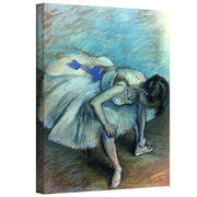 "ArtWall ""Seated Dancer"" Gallery Wrapped Canvas Arts By Edgar Degas"