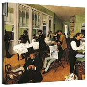 "ArtWall ""The Cotton Office, New Orleans"" Gallery Wrapped Canvas Art By Edgar Degas, 14"" x 18"""