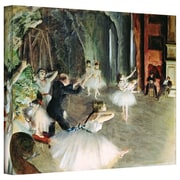 "ArtWall ""The Rehearsal of The Ballet on Stage"" Gallery Wrapped Canvas Arts By Edgar Degas"