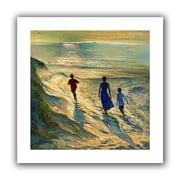 "ArtWall ""Beach Walk"" Flat Unwrapped Canvas Arts By Timothy Easton"