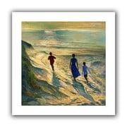 "ArtWall ""Beach Walk"" Flat Unwrapped Canvas Arts By Timothy Easton"