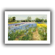 ArtWall Floral Chessboard Flat Unwrapped Canvas Art By Timothy Easton, 24 x 36
