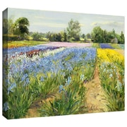 "ArtWall ""Floral Chessboard"" Gallery Wrapped Canvas Arts By Timothy Easton"