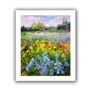 "ArtWall ""Hoeing Team and Iris Fields"" Flat Unwrapped Canvas Art By Timothy Easton, 20"" x 24"""