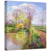 """ArtWall """"Spring Bridge"""" Gallery Wrapped Canvas Arts By Timothy Easton"""