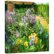 "ArtWall ""Sweet Rocket, Foxgloves and Irises"" Gallery Wrapped Canvas Arts By Timothy Easton"