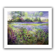 ArtWall Trackway Past The Iris Field Flat Unwrapped Canvas Art By Timothy Easton, 26 x 32