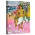 ArtWall in.A Walk by The Seain. Gallery Wrapped Canvas Arts By Paul Gauguin
