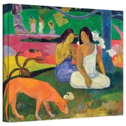 "ArtWall ""Arearea, The Red Dog"" Gallery Wrapped Canvas Arts By Paul Gauguin"