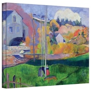"""ArtWall """"Brittany Landscape The David Mill"""" Gallery Wrapped Canvas Art By Paul Gauguin, 14"""" x 18"""""""