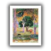 "ArtWall ""Dominican Landscape"" Unwrapped Canvas Art By Paul Gauguin, 24"" x 18"""