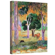 """ArtWall """"Dominican Landscape"""" Gallery Wrapped Canvas Art By Paul Gauguin, 48"""" x 36"""""""