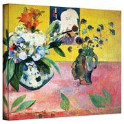 "ArtWall ""Flowers and a Japanese Print"" Gallery Wrapped Canvas Art By Paul Gauguin, 14"" x 18"""